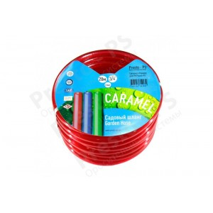 Шланг поливочный Presto-PS силикон садовый Caramel (красный) диаметр 3/4 дюйма, длина 30 м