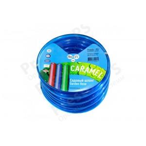 Шланг поливочный Presto-PS силикон садовый Caramel (синий) диаметр 3/4 дюйма, длина 30 м