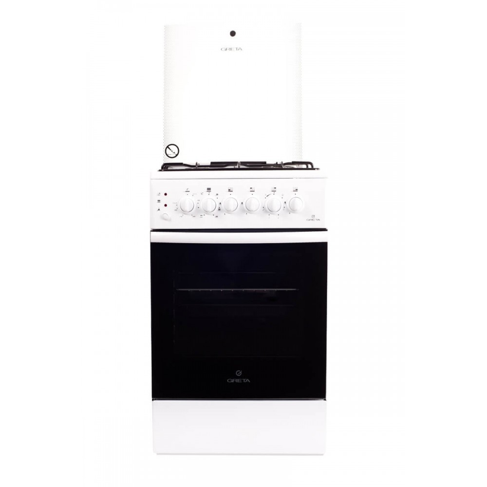 Комбинированная плита GRETA 1470-ГЭ-00 (белая)