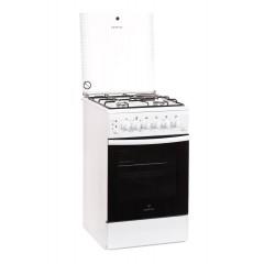 Комбинированная плита GRETA 1470-ГЭ-09 (белая, чугунная решетка)