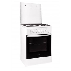 Комбинированная плита GRETA 600-ГЭ-00 (белая, чугунная решетка)