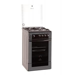 Газовая плита GRETA 1470-00-07 (серая, черный фасад )