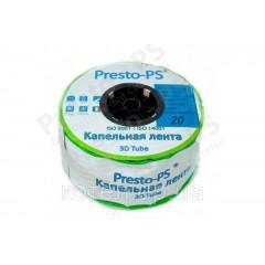 Капельная лента Presto-PS эмиттерная 3D Tube капельницы через 20 см расход 2.7 л/ч, длина 500 м