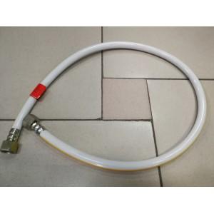 Газовый шланг белый (гайка сталь) 100 см