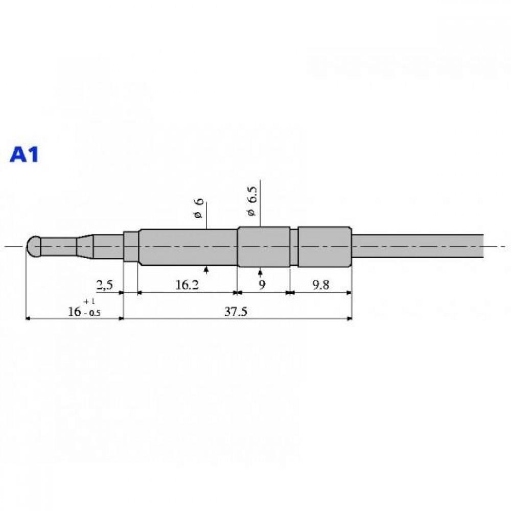 Термопара с термопрерывателем оголовок - А1 М9х1 L=600