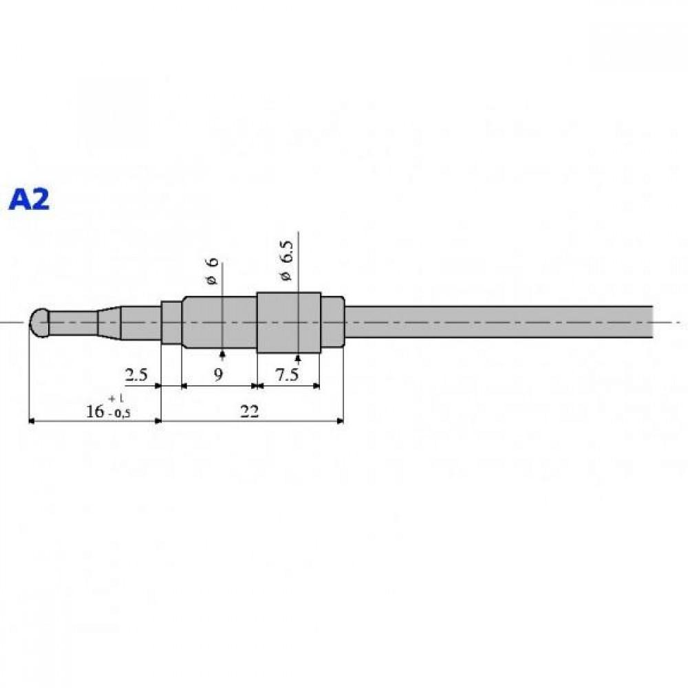 Термопара оголовок - А2 М9х1 L=600 (алюминий)