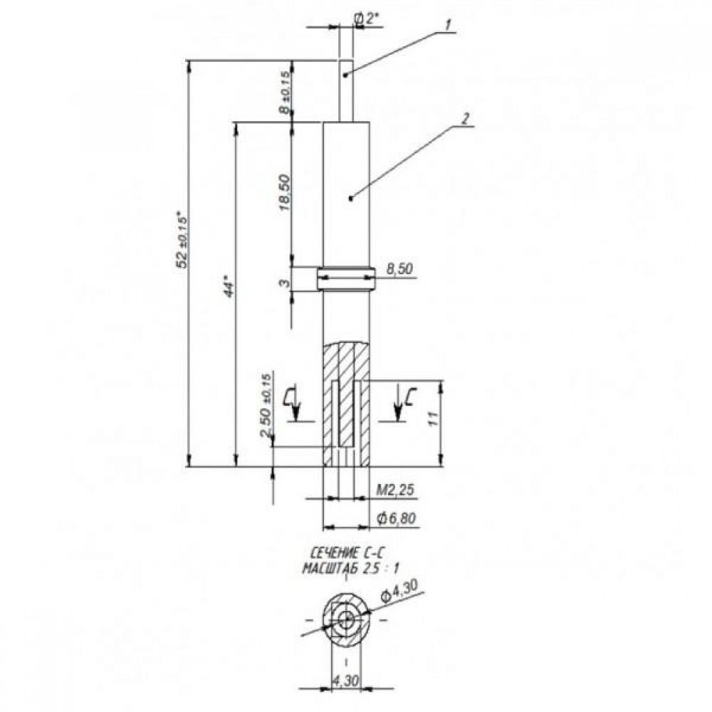 Оригинальный электрод SIT (Ф2,4 мм,L-стержня-8мм)