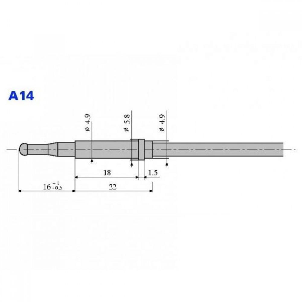 Термопара оголовок - А14 М8х1 L=600