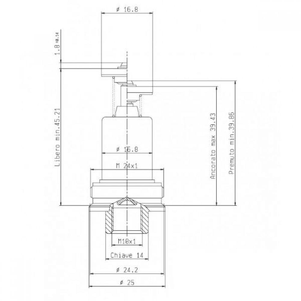 Магнитный клапан для 710 MINISIT термопара М10х1